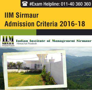 IIM Sirmaur Admission Criteria 2016 - 40% weight to CAT scores