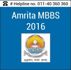 Amrita MBBS 2016