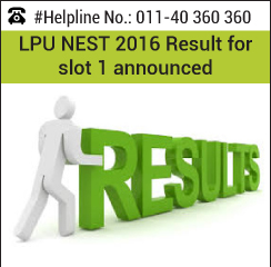 LPU NEST 2016 Result for slot 1 announced