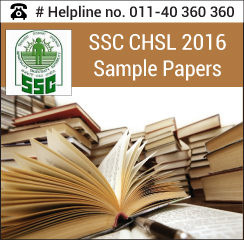 SSC CHSL 2016 Sample Papers