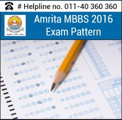 Amrita MBBS Exam pattern 2016