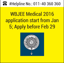 WBJEE Medical 2016 application starts from Jan 5; Apply before Feb 29