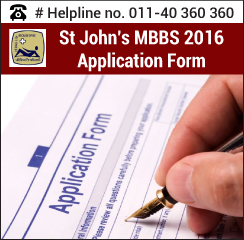 St. John's MBBS 2016 Application Form