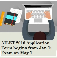 AILET 2016 Application Form begins; Exam on May 1