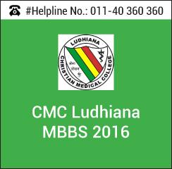 CMC Ludhiana MBBS 2016