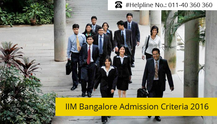 IIM Bangalore Admission Criteria 2016-18; 20% weightage to CAT scores in final selection