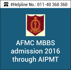 AFMC MBBS 2016 admission through AIPMT