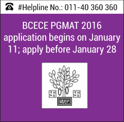 BCECE PGMAT 2016 application begins on January 11; apply before January 28