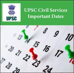 UPSC Civil Services Important Dates 2017