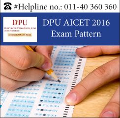 DPU AICET 2016 Exam Pattern