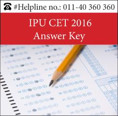 IPU CET 2016 Answer Key
