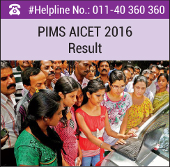 PIMS AICET 2016 Result