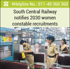 South Central Railway notifies 2030 women constable recruitments