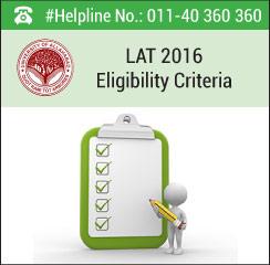 LAT 2016 Eligibility Criteria
