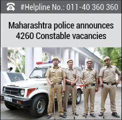Maharashtra police announces 4260 Constable Vacancies
