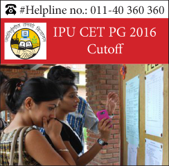 IPU CET PG 2016 Cutoff