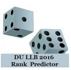 DU LLB 2016 Rank Predictor