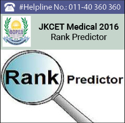 JKCET Medical 2016 Rank Predictor