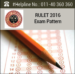 RULET 2016 Exam Pattern and Syllabus