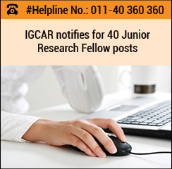 IGCAR notifies for 40 Junior Research Fellow posts