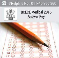 BCECE Medical 2016 Answer Key