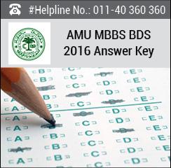 AMU MBBS BDS 2016 Answer key