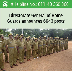 Directorate General of Home Guards announces 6943 posts