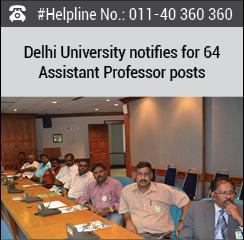 Delhi University notifies for 64 Assistant Professor posts