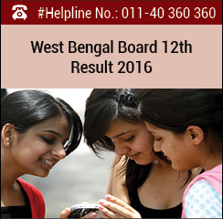 West Bengal Board 12th Result 2016