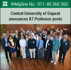 Central University of Gujarat announces 87 Professor posts
