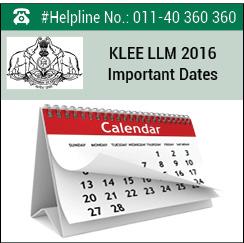 KLEE LLM 2016 Important Dates