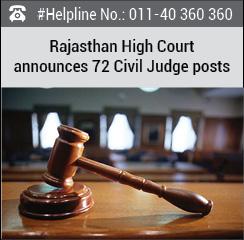 Rajasthan High Court announces 72 Civil Judge posts