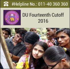 DU Fourteenth Cutoff 2016