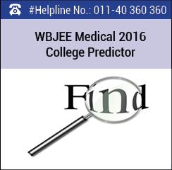 WBJEE Medical 2016 College Predictor