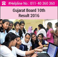 Gujarat Board 10th Result 2016