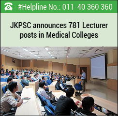 JKPSC announces 781 Lecturer posts in Medical Colleges