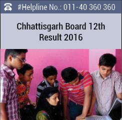 Chhattisgarh Board 12th Result 2016
