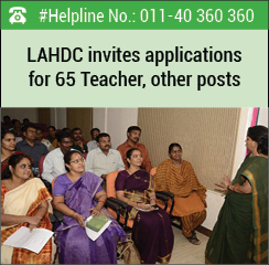 LAHDC invites applications for 65 Teacher, other posts
