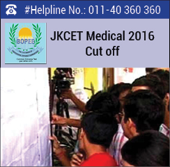 JKCET Medical 2016 Cut off
