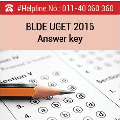BLDE UGET 2016 Answer key