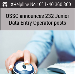 OSSC announces 232 Junior Data Entry Operator posts