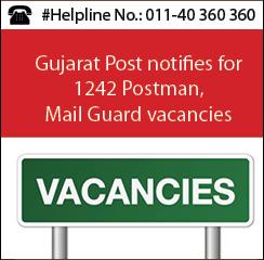 Gujarat Post notifies for 1242 Postman, Mail Guard vacancies