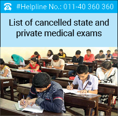 List of cancelled state and private medical exams