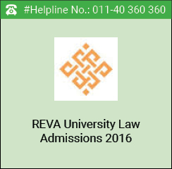 REVA Law Admissions 2016