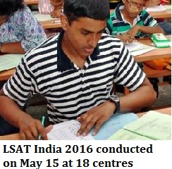 LSAT India 2016 exam conducted on May 15 at 18 centres