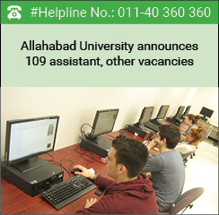 Allahabad University announces 109 assistant, other vacancies