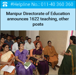 Manipur Directorate of Education announces 1622 teaching, other posts