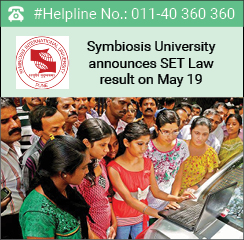 Symbiosis University announces SET Law 2016 result on May 19