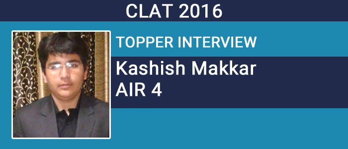 CLAT 2016 Topper Interview: 'Go for authentic information source and stay updated' says Kashish Makkar, AIR 4