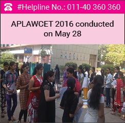 APLAWCET 2016 conducted on May 28